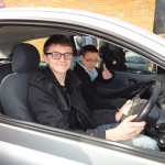 School Pupils At Alconbury Driving Centre